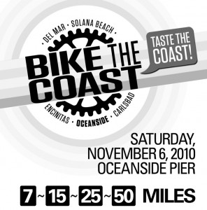 Bike the Coast - Taste the Coast November 6, 2010 Oceanside Pier, CA